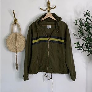 NEW LOOK olive green hooded jacket size XL NWT